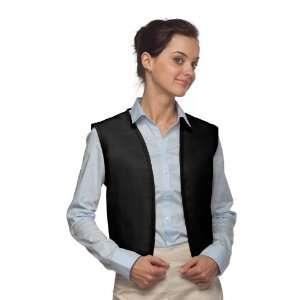 DayStar 740NP No Pocket Uniform Vest Apron   Black