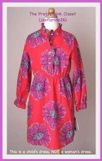 Lilly Pulitzer Kids Kensington Poplin Shirt Dress NWT 7
