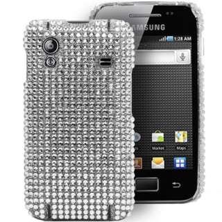 Magic Store   Silver Diamante Bling Case For Samsung Galaxy Ace S5830
