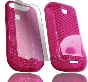 Hot Pink Gel Case+Film Samsung Galaxy Apollo GT i5800
