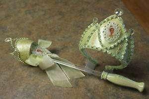 N  Princess Frog TIANA Costume Crown & Wand