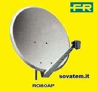 kit parabola sat da 80 cm Fracarro con lnb dual feed