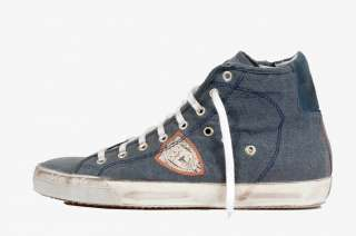 Philippe Model Biarritz Alta Avion Sneakers   Scarpe Blu EU 44   CM 29