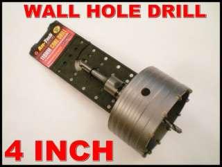 WALL HOLE DRILL 4 110MM PIPES DRAIN CORE BRICKWORK CONCRETE BLOCKS
