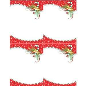 Candy Cane 4 Up Printable Invitations With Envelopes   Pkg