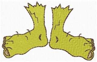 Halloween Monster Feet Machine Embroidery Design CD