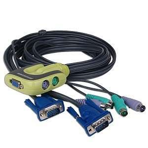 IOGEAR MiniView Micro 2 Port PS/2 KVM Switch w/Cables