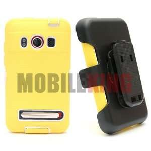 (MOBILE KING) Dual Ultra Rugged Protector Case ¡V Yellow