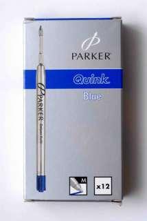 PARKER 12 BLUE PARKER BALLPEN REFILLS MEDIUM SIZE NEW