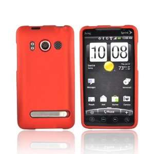 For Luxmo HTC EVO 4G Rubberized Hard Case Cover ORANGE