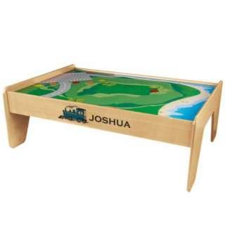 Kidkraft Personalized Train Table Natural   Joshua product details