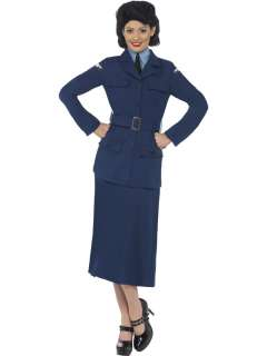 WW2 Fancy Dress Military Uniform Army 1940s 40s Costume 8 16