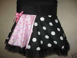 Girls Black,Pink, White Hello Kitty Tutu Skirt,Age 5 6