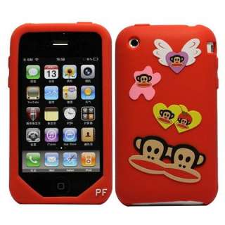 Custodia sil. Paul Frank cuori e ali per iPhone 3G 3GS