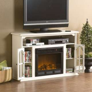 Home Eliot 48 TV Stand with Electric Fireplace in Antique White