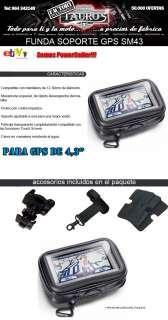 FUNDA SOPORTE GPS IMPERMEABLE SM3 MOTO BICI BIKE 4,3