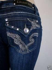 LA Idol Jeans Fleur De Lis Crystal/Stud Jewel pkt.1 13