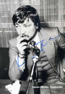 Rainer Werner Fassbinder autograph Vintage signed photo