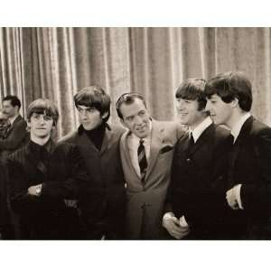 Ed Sullivan w/The Beatles 8x10 Photo Sports & Outdoors