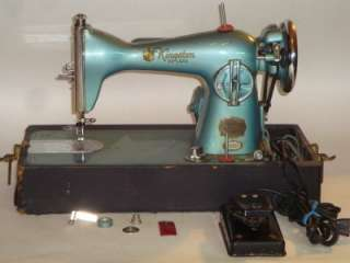 VINTAGE KINGSTON / BROTHER DELUXE PRECISION SEWING MACHINE W/ FOOT