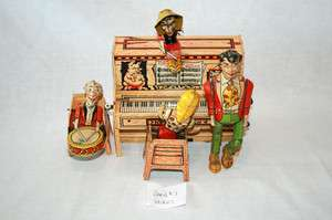 1940s Lil Abner Dogpatch Band Tin Litho Wind up 3