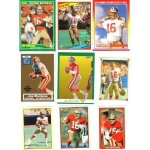 Joe Montana San Francisco 49ers Football Card Lot