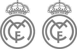 PEGATINA/STICKER/PORTATIL COCHE ESCUDO REAL MADRID