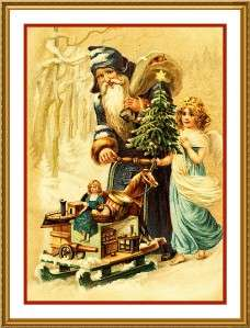 Victorian Father Christmas Santa #42 Counted Cross Stitch Chart free