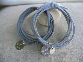 Family Place Wrap Bracelet   Mid Grey and Light Grey