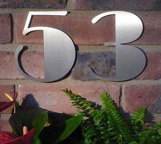 Stunning stainless steel Art Deco style house number with a secret