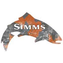 Gray & Orange Camo Trout Sticker