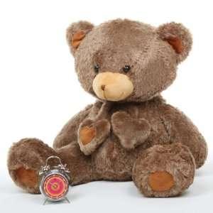 Cheeky Hugs Soft Mocha Brown Heart Teddy Bear 36in Toys