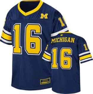 Michigan Wolverines Youth Navy Stadium Football Jersey
