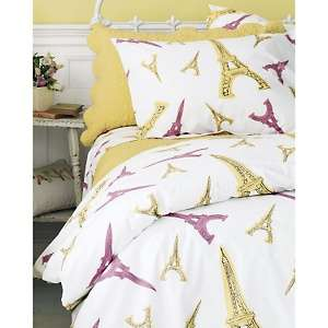 Garnet Hill Eiffel Tower Comforter Cover   Twin