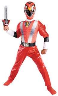 Deluxe Muscle Red Ranger Costume   Disneys Power Rangers Costumes