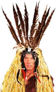 Indian Medicine Man Headpiece   Indian Costume Accessories