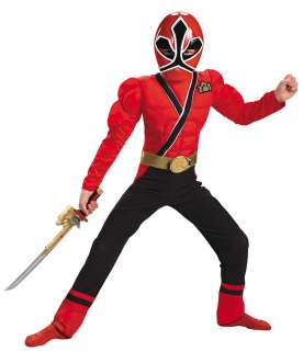 Kids Muscle Red Ranger Samurai Costume   Power Ranger Costumes