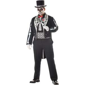 Day Of The Dead Groom Adult Plus Costume, 68999