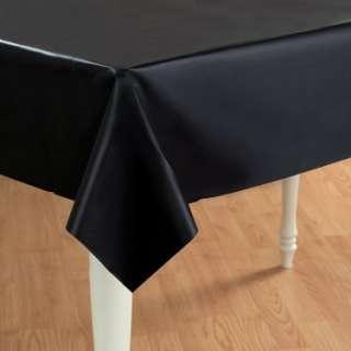 Black Velvet (Black) Plastic Tablecover   Costumes, 72587