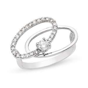 34ct Diamond 14K White Gold Ring
