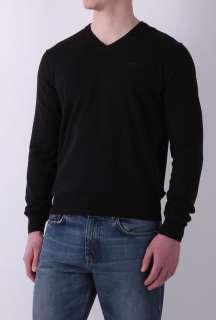 Black Classic Fit Cotton V Knit by Hugo Boss Black   Black   Buy