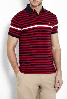 Polo Ralph Lauren  Navy Red White Stripe Polo Shirt by Polo Ralph