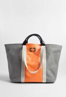 Diane von Furstenberg  Orange Large Kaya Coated Canvas Tote by Diane