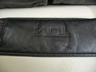 TUMI Black Leather Alpha Messenger/Briefcase/Laptop/Computer Bag