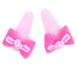 Pink) Baby/ Toddler /Girl Bow Shaped Hair Clip (4088 2) Toys & Games