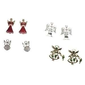 Jewelry Elegant Gold and Silver Plated Angel Earring Sets Home