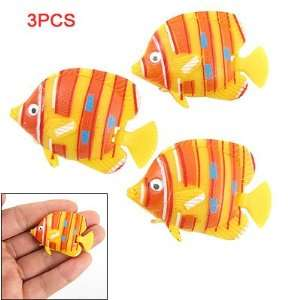 Como Aquarium Yellow Orange Plastic Tropical Fish Ornament