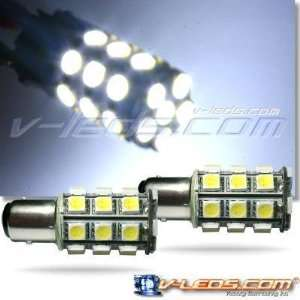 2 HID WHITE SMT 27 LED PARKING LIGHT BULBS 1157 2057: Automotive