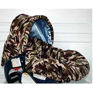 Daddy Camo/blue W/trim Infant Car Seat Cover Baby
