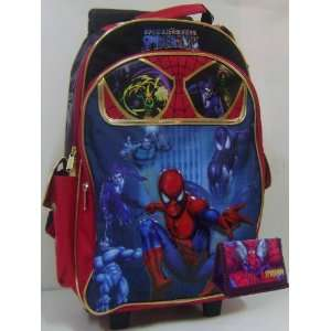 New Spider Man Rolling Backpack Bonus Wallet: Toys & Games